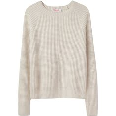 Organic by John Patrick Thermal Pullover (€175) found on Polyvore featuring women's fashion, tops, sweaters, jumpers, blouses, pink sweater, pink pullover, round neck sweater, pink jumper and long sweaters