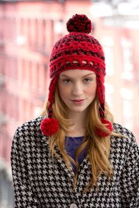 Halsey Street Pompom Helmet - Step out in style with this fashionable hat this winter. The bulky yarn makes it super fast to work up.