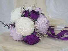 Bridal bouquet wedding bouquet paper flower by Mazziflowers on Etsy, $45.00