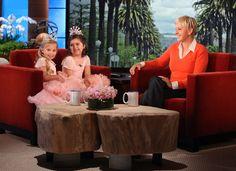 "Ellen talks with the adorable girls, Sophia and Rosie, who sing Nicki Minaj's ""Super Bass."""