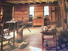 Image result for inside 1600 american cabin