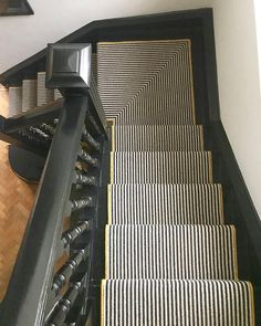 Newest Pics Carpet Stairs runner Suggestions One of the fastest methods to revamp your tired old staircase would be to cover it with carpet. Painted Stairs, Painted Floors, Painted Staircases, Staircase Runner, Staircase Diy, Architecture Design, Mad About The House, Building Stairs, Carpet Shops