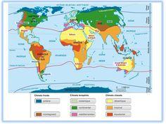 Reliefs et climats dans le monde (séquence 2) - Ressources pour les enseignants de CM2