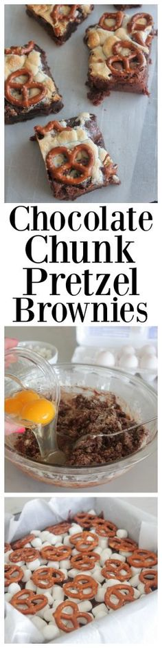 Chocolate Chunk Pretzel Brownies, the perfect sweet treat for your family and friends!