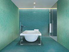 Beside: ceramic mosaic tiles by Massimiliano Adami