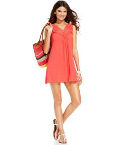 7f78572ecfc87 Kenneth Cole Reaction Crochet-Top Tunic Cover-Up  macys Bathing Suit Cover  Up