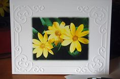 Blank Yellow Flowers Photo Embossed Cards and Envelopes - pinned by pin4etsy.com