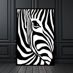 Picture wall Scandinavian - Abstract Wall Picture Poster Living Room Art Decoration Scandinavian Zebra Stripes Nordic Canvas Painting Prints No Frame. Arte Zebra, Zebra Art, Picture Wall Living Room, Living Room Art, Zebra Painting, Painting Prints, Spray Painting, White Wall Decor, Black Decor