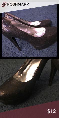 Black pumps Black glitter  pumps Shoes Heels