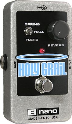 true space-saver with classic Holy Grail sounds.The Electro-Harmonix Holy Grail Nano Reverb Guitar Effects Pedal has the prized sounds of the legendary Holy Grail reverb pedal in a rugged, performance-friendly nano die-cast chassis. The small footprint stompbox fits easily into any pedal board while still delivering the amazing reverb sounds that made the original 2002 Holy Grail a legend among guitarists everywhere.The EH Holy Grail Nano reverb pedal provides the original classic Spring ...