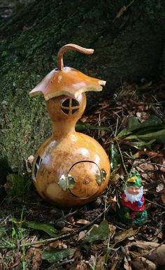 Gourd Fairy House or A Garden Gnome Home by HandmadeinHope on Etsy