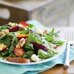 Roasted Beet Salad HealthyAperture.com