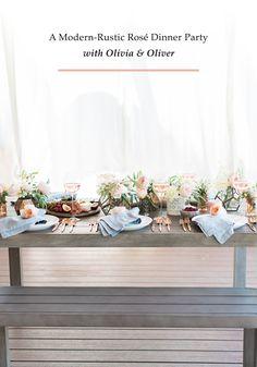 Modern-rustic rosé dinner party #BedBathandBeyond #sponsored
