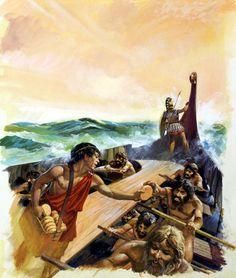 Spartans vs Athenians (Original) art by Andrew Howat