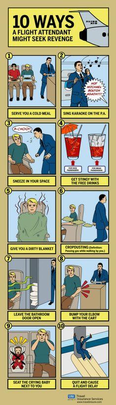 10 ways a flight attendant may seek revenge