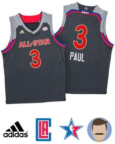 Men s New Orleans 2017 All-Star Chris Paul Western Jersey a1dc0822702