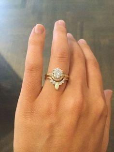 3rd Eye Ring Bridal Set, Third Eye Pear Engagement Ring+Matching ...