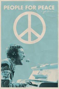 Amazon.com: John Lennon - People for Peace Poster Print, 24x36 Music Poster Print, 24x36: Home & Kitchen