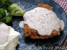 Chicken Fried Steak W/ Cream Gravy