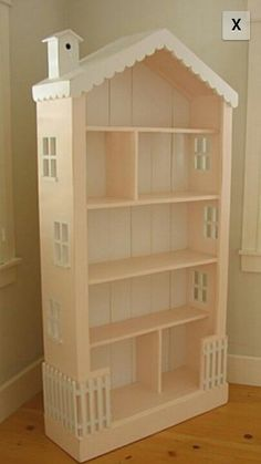 Make a dollhouse out of a bookshelf!