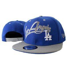 New Era Los Angeles Dodgers Snapback Hats - Blue Gray: Cheap Snapback Hats Wholesale