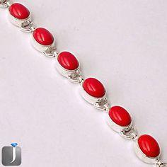 A classy silver bracelet with trendy red coral is looking fabulous..!!  #silverbracelet  #bracelet  #jewelry  #silverjewelry  #jewelexi