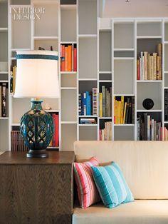 Postcard Inn Lobby Bookshelves
