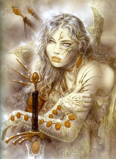 Luis Royo - the artist best known for his sensual and dark pictures. Born in 1954 in Olalla, Spain. His worlds of fantasy and scenes are fas. Serpieri, Luis Royo, Boris Vallejo, Spanish Artists, Fantasy Illustration, Digital Illustration, Fantasy Warrior, Gothic Art, Fantastic Art