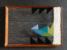 Loom weaving by Maryanne Moodie. Not a weaver but loving these colors and shapes.