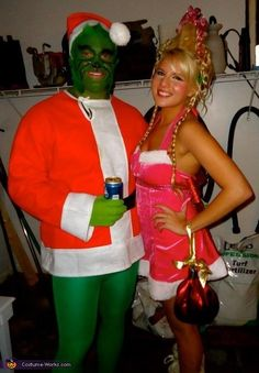 Peter pan and wendy diy couples costume halloween this is adorable the grinch and cindy lou who diy halloween costume solutioingenieria Image collections
