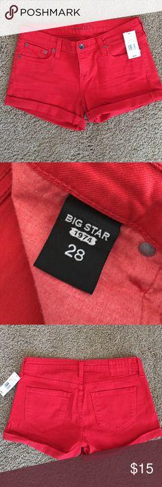 Big Star red denim shorts - NWT NWT Big Star red denim shorts - size 28 Big Star Shorts Jean Shorts