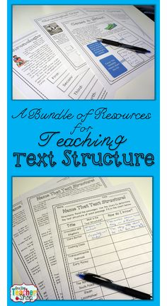 A BUNDLE of Non-Fiction TEXT STRUCTURE resources! Practice Sheets, Review Activity, Anchor Chart, & Test {4th and 5th grade} Compare Contrast, Cause Effect, Problem Solution, Chronological Order. Paid