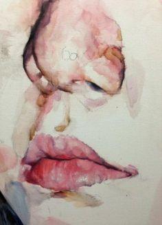 Painting watercolor face water colors 41 New ideas Watercolor Face, Watercolor Portraits, Watercolor Paintings, Figure Drawing, Painting & Drawing, Painting People, Art Sketchbook, Portrait Art, Face Art