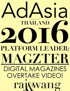 AD ASIA THAILAND February 2016 digital magazine - Read the digital edition by Magzter on your iPad, iPhone, Android, Tablet Devices, Windows 8, PC, Mac and the Web.