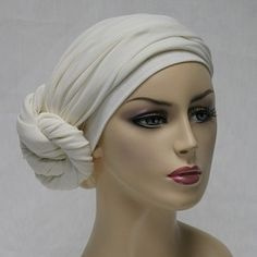 Creme Head wrap, Chemo hats, Turbans for cancer, head scarf, hats for cancer patients, alopecia, chemo hair loss.