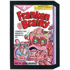 Franken Brainy: Topps Wacky Packages Wall from WALLS 360. http://www.walls360.com/wackypackages Graphics