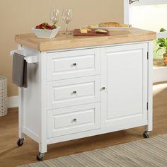 Simple Living Monterey Kitchen Cart (Monterey Cabinet, white)