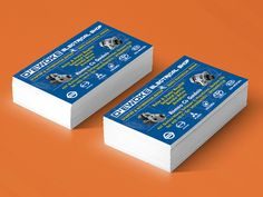 Personalized calling card I did for D'ewoke Electrical Shop + Mock-up. Electrical Shop, Business Card Mock Up, Calling Cards, Photo Manipulation, Thesis, Vector Art, Philippines, Advertising, Minimalist
