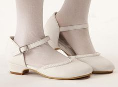 Ella Girls Shoe, White for 1st Communion or Easter from CatholicSupply.com