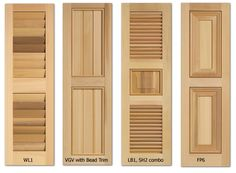 Timberlane Exterior Shutters :: Step 2: Type & Style