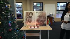 Tribute to Mandela in our office #TatMadiba