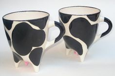 Cow Mugs. $26.00, via Etsy.