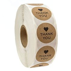 Buy Round Kraft Wedding Thanks Decor Stickers Student Stickers Thank You Stickers at Wish - Shopping Made Fun Love Stickers, Thank You Stickers, Round Stickers, Packaging Box, Honey Packaging, Cupcakes, Food Crafts, Bakery Crafts, Stationery Paper