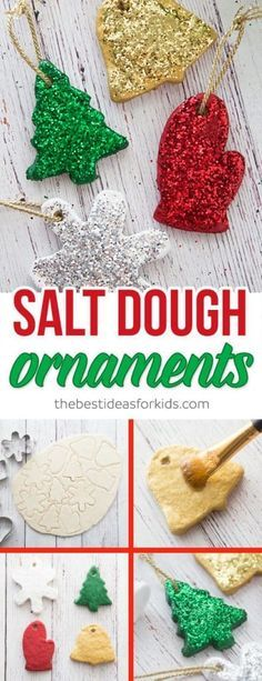 Salt Dough Ornament Recipe These salt dough ornaments are so fun to make and would make a great gift! Kids will love helping to make these ornaments as a craft. The post Salt Dough Ornament Recipe appeared first on Salzteig Rezepte. Diy Christmas Ornaments, Homemade Christmas, Christmas Art, Christmas Projects, Christmas Holidays, Salt Dough Christmas Decorations, Kids Ornament, Funny Christmas, Ornaments Ideas