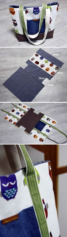 Diy Sewing Projects Easy Canvas Tote Bag with Pocket. Step by step DIY Tutorial Sewing Hacks, Sewing Tutorials, Sewing Crafts, Sewing Projects, Bag Tutorials, Sewing Tips, Diy Projects, Sewing Basics, Fabric Crafts