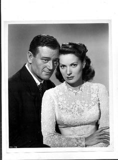 John Wayne and Maureen O'Hara from The Quiet Man...Two of my favorite actors and one of my favorite movies..