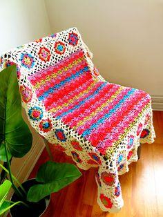 MES FAVORIS TRICOT-CROCHET: Modèle plaid au crochet gratuit : Ziggy blanky