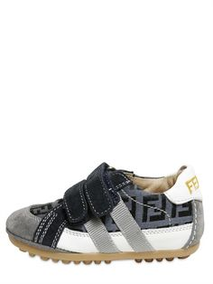 FENDI - LOGO VELCRO FASTENING LOGO SNEAKERS - LUISAVIAROMA - LUXURY SHOPPING WORLDWIDE SHIPPING - FLORENCE