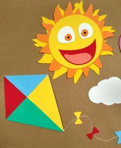 Kids Crafts, Diy And Crafts, Kite Decoration, Art Sketches, Kindergarten, Bernardo, Birthday, Creative, Pasta