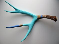 painted antlers by madebycassandrasmith on etsy